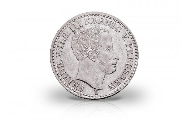 1/6 Taler 1822-1840 Preußen Friedrich Wilhelm III. AKS 26