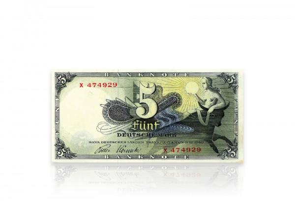 5 DM Banknote gebraucht Ro. 252e Deutschland 1948