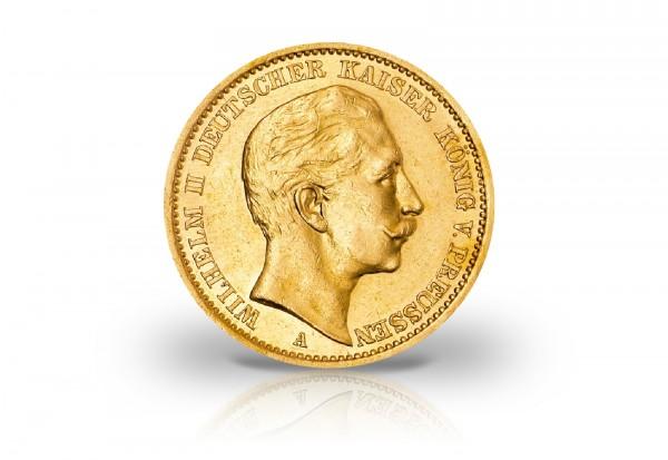 20 Mark Goldmünze 1890-1911 Deutsches Kaiserreich Preußen Kaiser Wilhelm II. Jaeger-Nr. 252