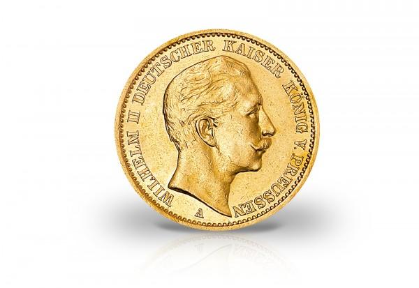 20 Mark Goldmünzen Deutsches Kaiserreich 3 Kaiser Jahr 3er Set Jaeger-Nr. 246, 248, 252