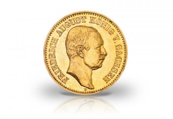 10 Mark Goldmünze 1905-1912 Kaiserreich Friedrich August Sachsen Jaeger-Nr. 267