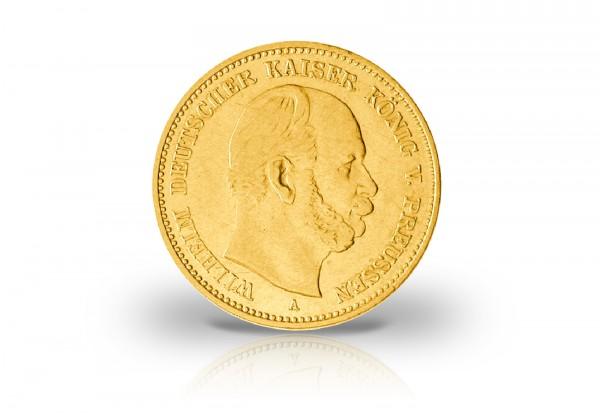 5 Mark Goldmünze 1877-1878 Deutsches Kaiserreich Preußen Kaiser Wilhelm I. Jaeger-Nr. 244