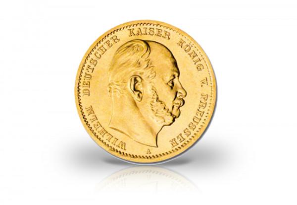 10 Mark Goldmünze 1874-1888 Deutsches Kaiserreich Preußen Kaiser Wilhelm I. Jaeger-Nr. 245