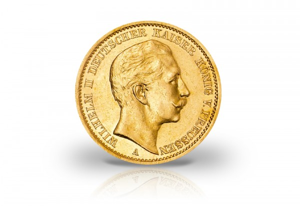 10 Mark Goldmünze 1890-1912 Deutsches Kaiserreich Preußen Kaiser Wilhelm II. Jaeger-Nr. 251