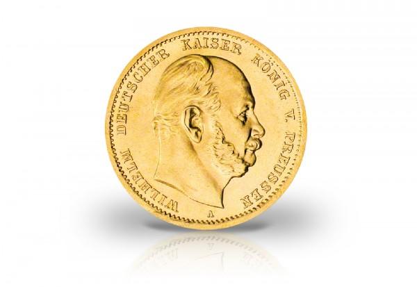 10 Mark Goldmünze 1872 Deutsches Kaiserreich Preußen Kaiser Wilhelm I. Prägestätte A-C Jaeger-Nr. 24