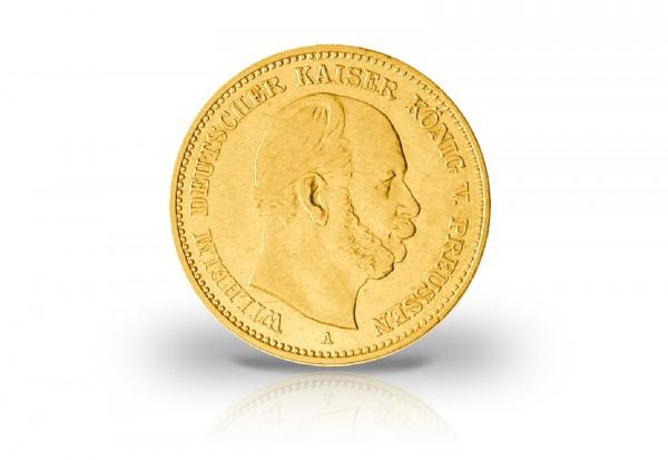 10 Mark Goldmünze 1873 Deutsches Kaiserreich Preußen Kaiser Wilhelm I. Prägestätte A-C Jaeger-Nr. 24