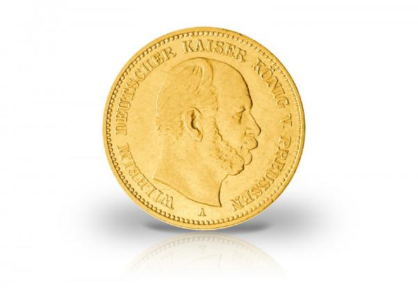 20 Mark Goldmünze 1872 Deutsches Kaiserreich Preußen Wilhelm I. Prägestätte A-C Jaeger-Nr. 243