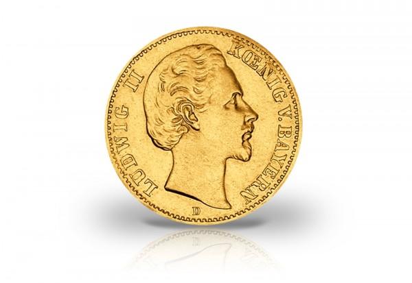10 Mark Goldmünze 1872 Deutsches Kaiserreich Bayern König Ludwig II. Jaeger-Nr. 193