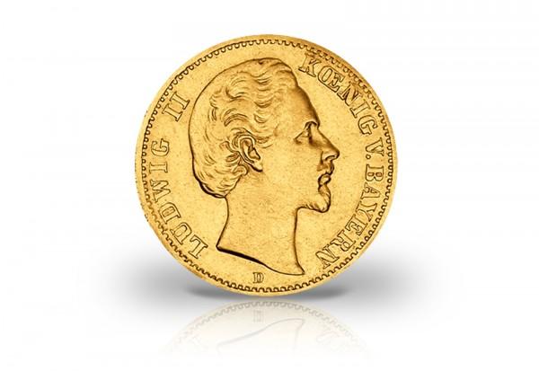 20 Mark Goldmünze 1872 Deutsches Kaiserreich Bayern König Ludwig II. Jaeger-Nr. 194