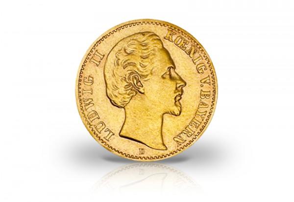 20 Mark Goldmünze 1873 Deutsches Kaiserreich Bayern König Ludwig II. Jaeger-Nr. 194