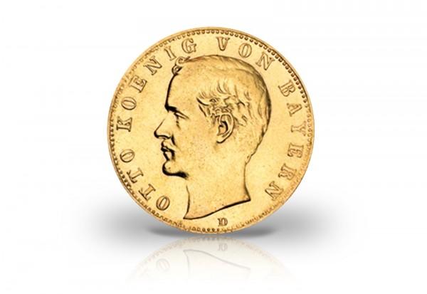 20 Mark Goldmünze 1900 Deutsches Kaiserreich Bayern König Otto Jaeger-Nr. 200