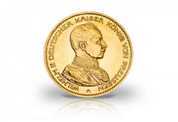 20 Mark Goldmünze 1914 Kaiserreich Preußen Kaiser Wilhelm II. Jaeger-Nr. 253