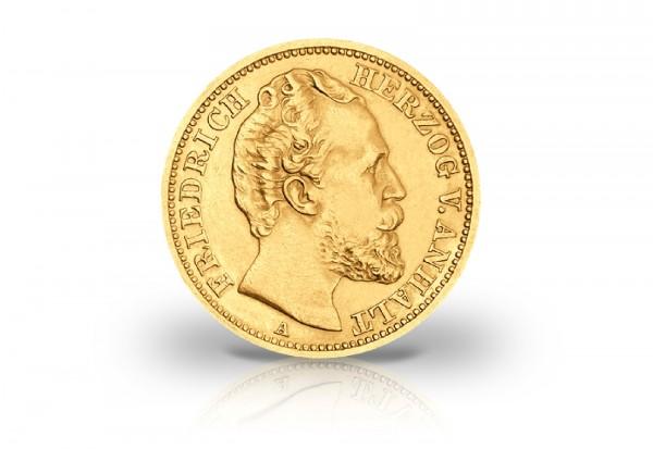 20 Mark Goldmünze 1875 Deutsches Kaiserreich Anhalt Herzog Friedrich I. Jaeger-Nr. 179