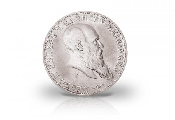 Sachsen-Meiningen 5 Mark Silbermünze 1900 - 1901 Georg II. Jaeger-Nr. 150