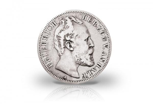 2 Mark 1876-1877 Deutsches Kaiserreich Anhalt Friedrich I. Herzogtum Jaeger-Nr. 19