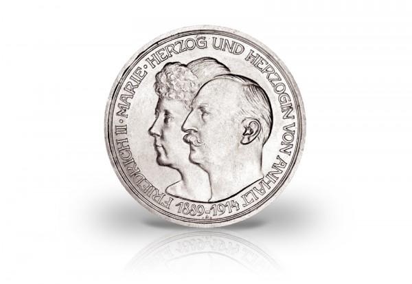 5 Mark 1914 Deutsches Kaiserreich Anhalt Silberne Hochzeit Jaeger-Nr. 25
