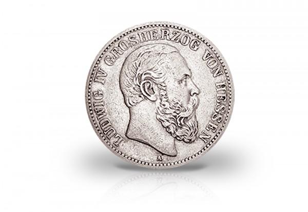 5 Mark 1888 Deutsches Kaiserreich Hessen Ludwig IV. Jaeger-Nr. 69