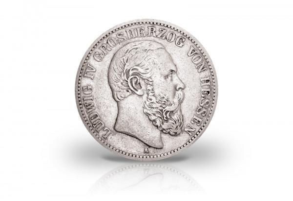 2 Mark 1891 Kaisserreich Ludwig IV. Hessen Jaeger-Nr. 70