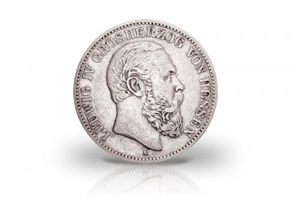 5 Mark 1891 Deutsches Kaiserreich Hessen Ludwig IV. Jaeger-Nr. 71