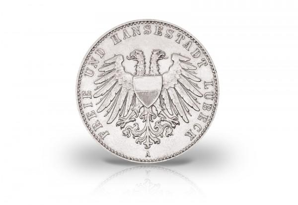 2 Mark 1901 Deutsches Kaiserreich Lübeck Wappen Jaeger-Nr. 80