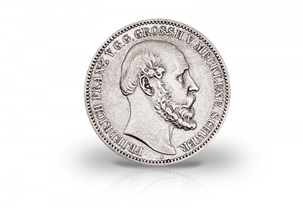 2 Mark 1876 Deutsches Kaiserreich Mecklenburg-Schwerin Friedrich Franz II. Jaeger-Nr. 84