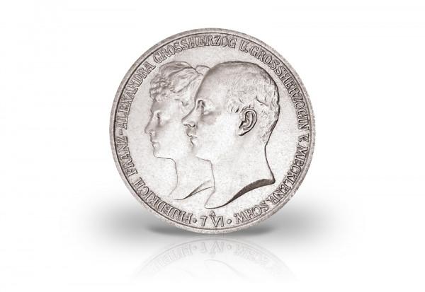 2 Mark 1904 Deutsches Kaiserreich Mecklenburg-Schwerin Hochzeit mit Alexandra Jaeger-Nr. 86