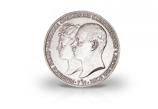 5 Mark 1904 Deutsches Kaiserreich Mecklenburg-Schwerin Hochzeit mit Alexandra Jaeger-Nr. 87
