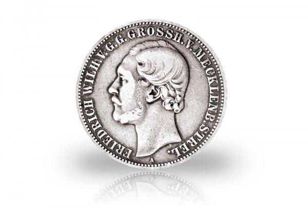 Großherzogtum Mecklenburg-Strelitz 2 Mark Silbermünze 1877 Großherzog Friedrich Wilhelm