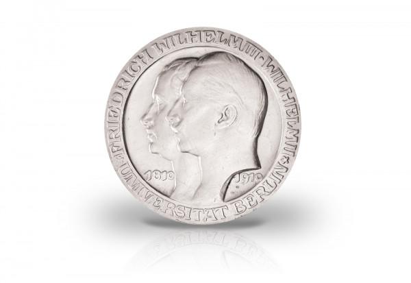 3 Mark Silbermünze 1910 Kaiserreich Preußen Universität Berlin Jaeger-Nr. 107