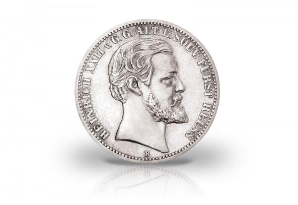 2 Mark 1877 Deutsches Kaiserreich Reuss Fürst Heinrich XXII. Jaeger-Nr. 166