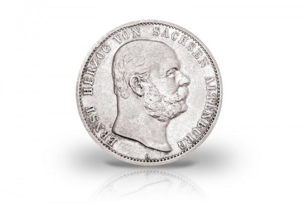 2 Mark 1901 Deutsches Kaiserreich Sachsen-Altenburg Herzog Ernst Jaeger-Nr. 142