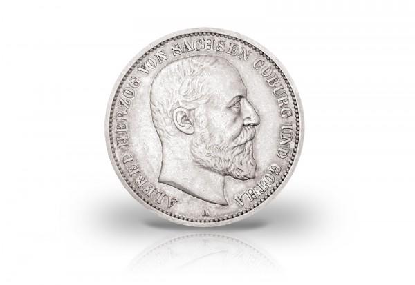 2 Mark 1895 Deutsches Kaiserreich Alfred Herzog von Sachsen-Coburg und Gotha Jaeger-Nr. 145
