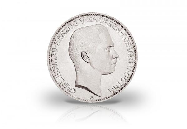 5 Mark 1907 Deutsches Kaiserreich Carl Eduard von Sachsen-Coburg und Gotha Jaeger-Nr. 148
