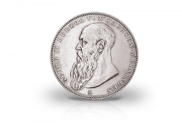 5 Mark 1902-1908 Deutsches Kaiserreich Sachsen Meiningen Herzog Georg II. Jaeger-Nr. 153