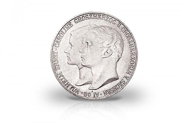 5 Mark 1903 Deutsches Kaiserreich Sachsen-Weimar-Eisenach Hochzeit Jaeger-Nr. 159