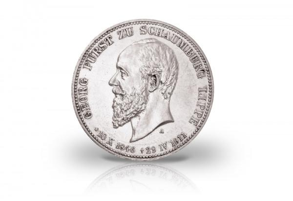 3 Mark 1911 Deutsches Kaiserreich Schaumburg-Lippe Tod Georg Jaeger-Nr. 166