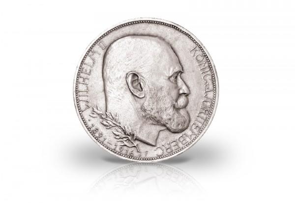 Königreich Württemberg 3 Mark 1916 Regierungsjubiläum Wilhelm II J. 178