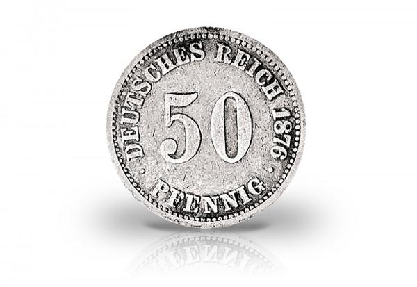 50 Pfennig und 1/2 Mark Jahrgang unserer Wahl Deutsches Kaiserreich Jaeger-Nr. 7, 16
