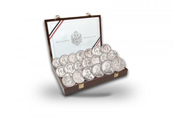 Kaiserreich Silber Kollektion Komplettsammlung inkl. Kassette mit Echtheitszertifikat