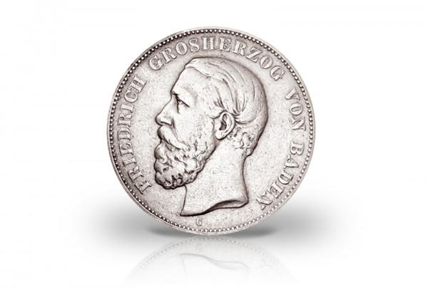 2 Mark 1880 Deutsches Kaiserreich Baden Friedrich I. Prägestätte G Jaeger-Nr. 26