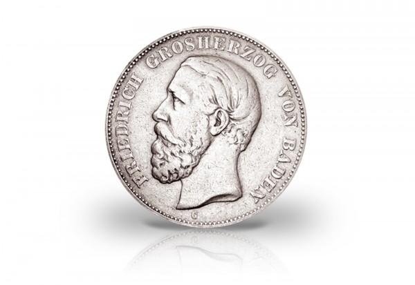 2 Mark 1888 Deutsches Kaiserreich Baden Großherzog Friedrich I. Prägestätte G Jaeger-Nr. 26