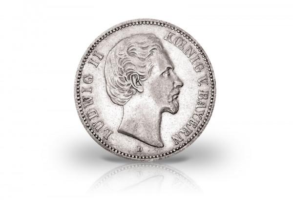 5 Mark 1874 Deutsches Kaiserreich Bayern König Ludwig II. Jaeger-Nr. 42