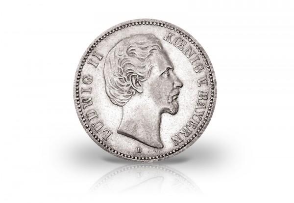 5 Mark 1875 Deutsches Kaiserreich Bayern König Ludwig II. Jaeger-Nr. 42