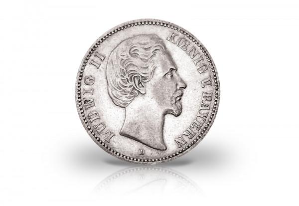 5 Mark 1876 Deutsches Kaiserreich Bayern König Ludwig II. Jaeger-Nr. 42 ss-vz