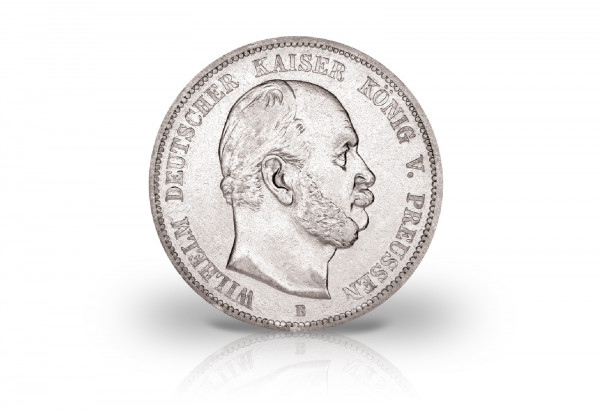 5 Mark 1876 Deutsches Kaiserreich Preußen König Wilhelm I. Prägestätte A Jaeger-Nr. 97