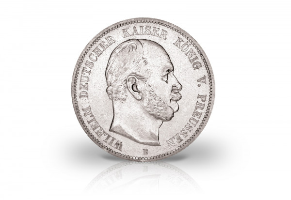5 Mark 1876 Deutsches Kaiserreich Preußen König Wilhelm I. Prägestätte B Jaeger-Nr. 97