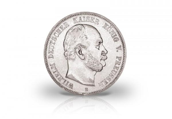 5 Mark 1876 Deutsches Kaiserreich Preußen König Wilhelm I. Prägestätte C Jaeger-Nr. 97