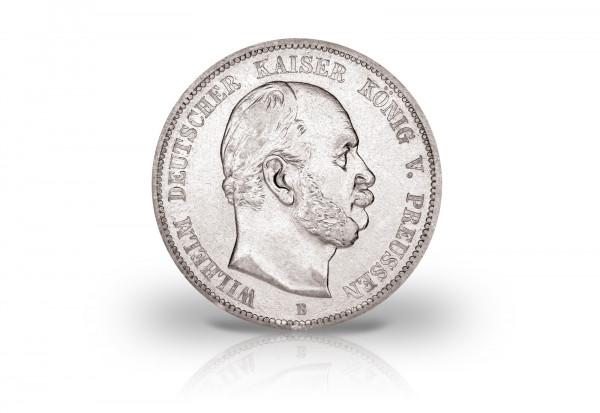 5 Mark 1874-1876 Deutsches Kaiserreich Preußen Kaiser Wilhelm I. Jaeger-Nr. 97