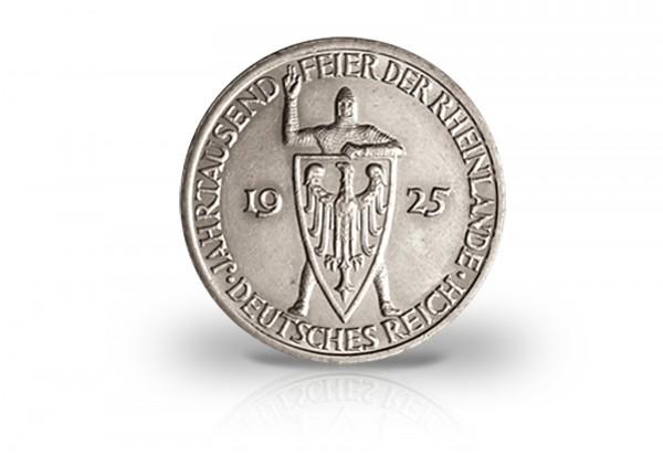 3 Reichsmark 1925 Weimarer Republik Jahrtausendfeier Rheinlande Jaeger-Nr. 321