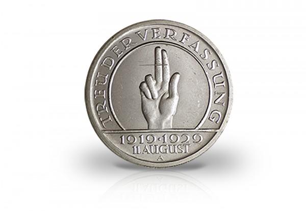 5 Reichsmark 1929 Weimarer Republik 10 Jahre Weimarer Verfassung Jaeger-Nr. 341